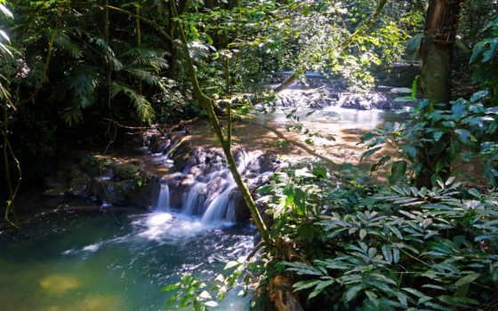 природа, водопады, каскад