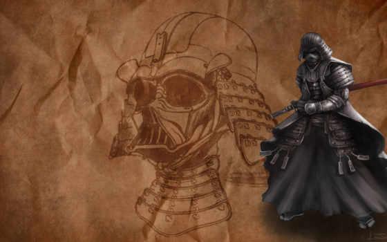дротик, vader, самурай