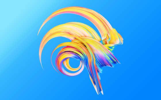 paintwave, blue, desktop