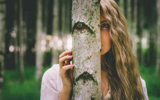 дерева, девушка, музыка, profile, photos,