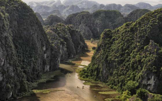 vietnam, горы, лес, река, coc, близко, природа, tam, красиво,