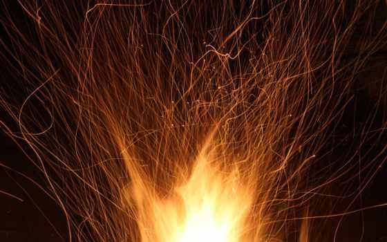 огонь, new, even, пламя, burn, год, праздник, вечер, spark