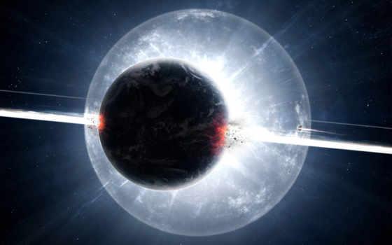 planet, exploding