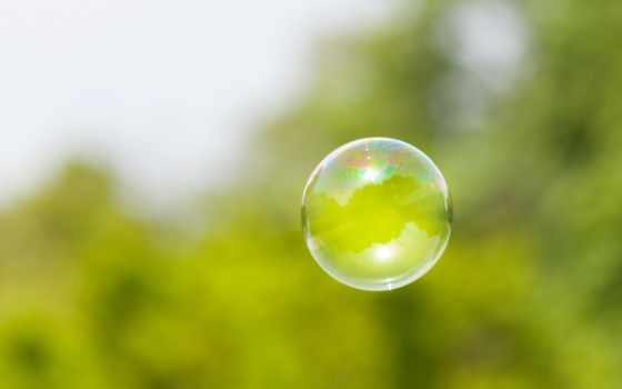 мыльный пузырь в фокусе