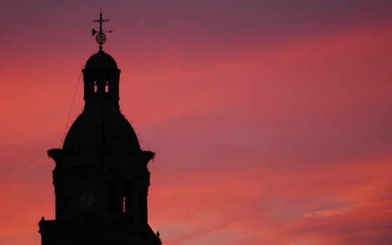небо, церкви, architecture,