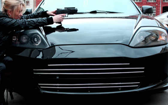 машина, devushki, черная