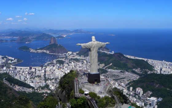 пляж, христа, статуя, janeiro, рио, brazilian, hotel, искупителя, kassandra, botafogo,