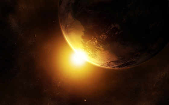 космос, планета, солнце, темный, картинка, new, звезды, разрешении, поделиться, замля, abstract, background, ipad, sunrise, вспышка, вернуться, powerpoint, изображения, retina,