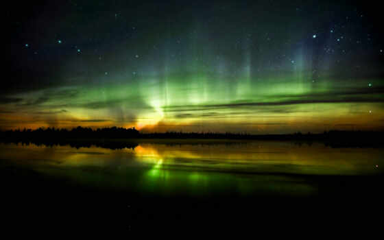 aurora, borealis, desktop