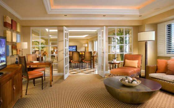 тв, кресла, living, комната, диван, hilton, люкс, интерьер,