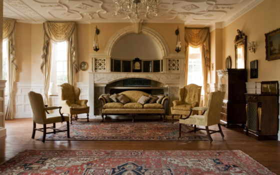 стиле, гостиной, классическом, гостиная, классический, interer,