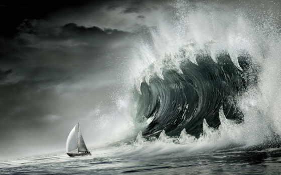 tsunami, мире, самое, большое, рисованные, году, индийском, океане,