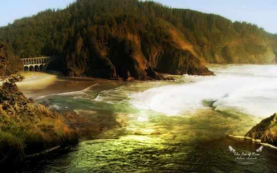 пейзажи -, море, голова, рисованные, https, страница, река, lighthouse,