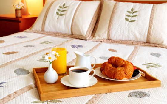 coffee, кровать, утро, плакат, завтрак, delfi, завтрака,