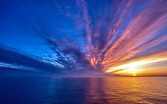 море, небо, закат, ноутбук, моря, морем, sun, water, облаках,