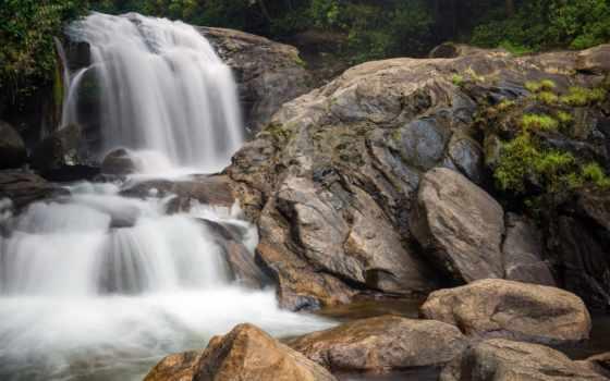 india, waterfalls, водопад, природа, small, falls, море,