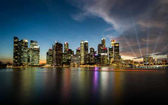 singapore, cityscape, singapur