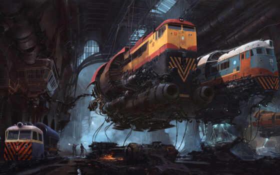локомотив, art, арта, fly, prank, funny, comics, дизельпанк, scus, город