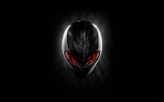 alienware, red