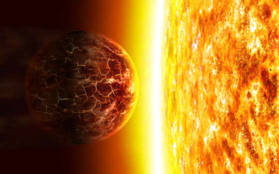 планета, горит, солнце, желтая, вернуться, поделиться, yellow,