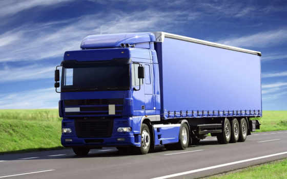 truck, синяя