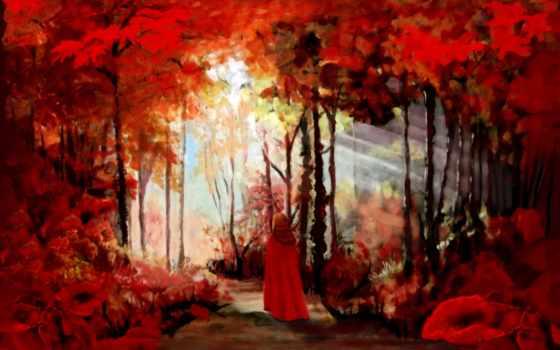 леса, коллекция, осень