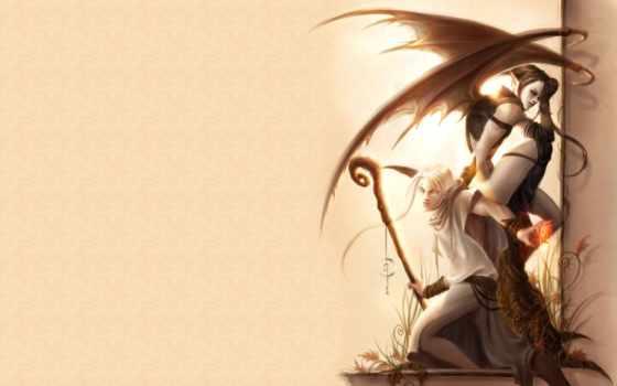 fantasy, ангелы, демоны