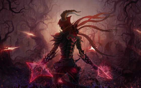 diablo, art, игры, hunter, демонов, демон, развернуть,