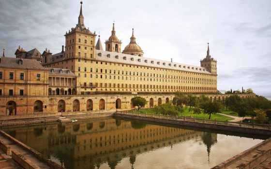 escorial, lorenzo, san, monasterio, más, con, parque, аль,