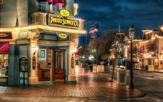 fondos, hdr, pantalla, anaheim, disneyland, улица, california, hdri, usa, fotos,