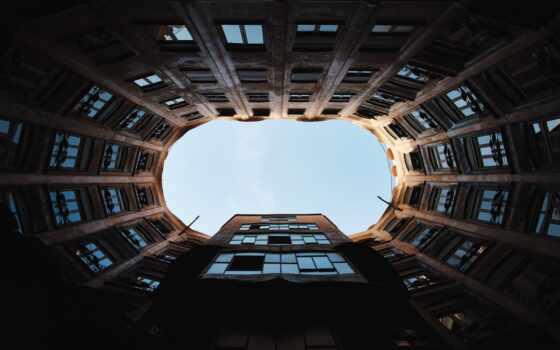 build, building, ниже, окно, взгляд, bottom, аль
