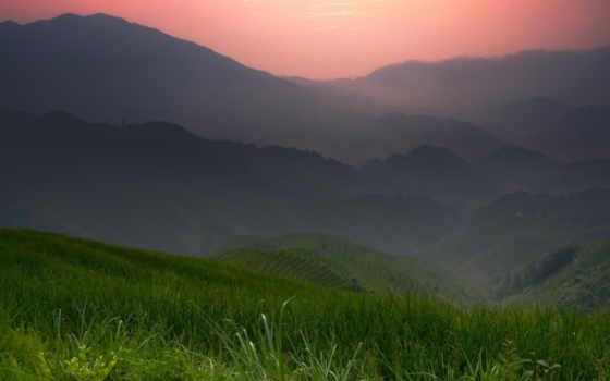 горы, китай, поля, rice, mountains, nature, картинка, download, chrome, landscapes, google,