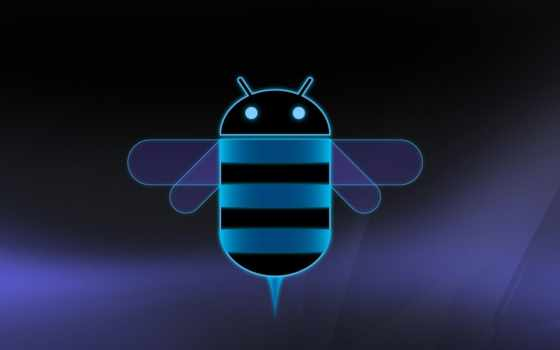 android, honeycomb, logo, dark, blue