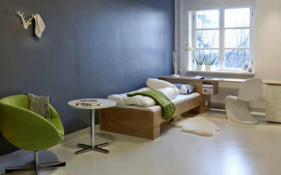 интерьер, стена, спальни
