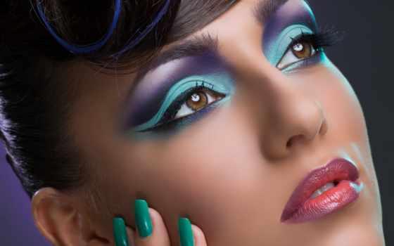 маникюр, девушка, свет, ресницы, макияж, тени, карие, hairstyle, губы, рука,