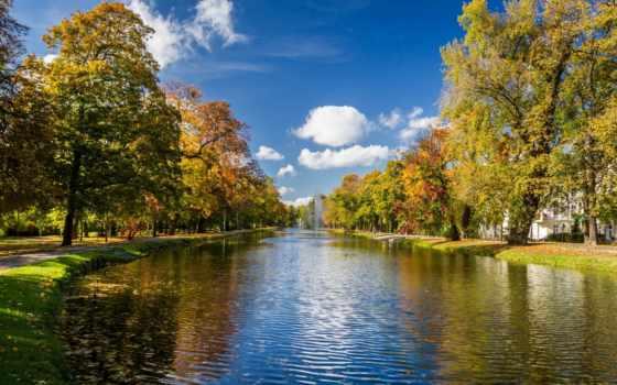 фонтаны, осень