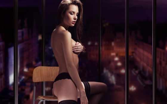 gorgeous, enjoyment, эротический, lady, обнаженная, sensual, чулках, девушки,