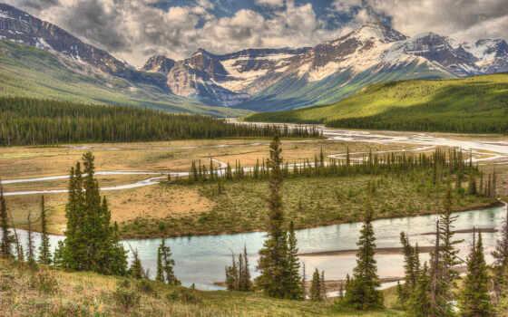 природа, река, горы
