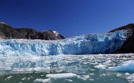 картинка, лед, аляска