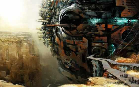 будущего, город, fantasy