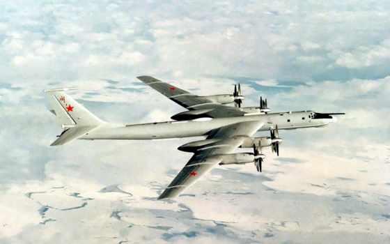 стратегический, бомбардировщик, ракетоносец Ту-95