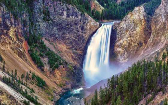 красивые, водопады, водопад