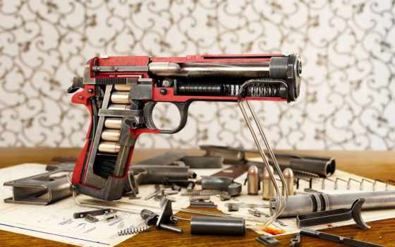 пистолет в разрезе