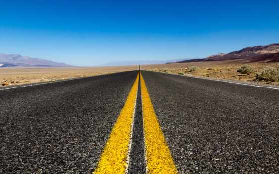 дорога, разметка, природа, пустыня, небо, десерт,