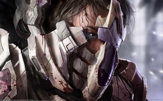 cyberpunk, паладин, доспех, war, био, just, fantasy, глаз, art