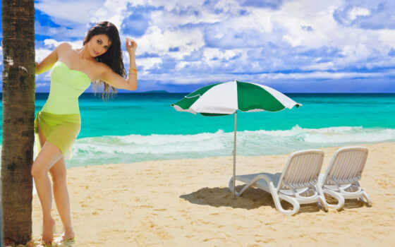 пляж, marine, бриз, postcard