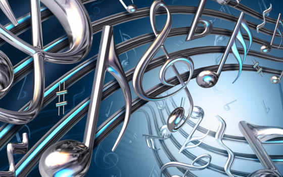 музыка, ключ, скрипка, поток, звуки,