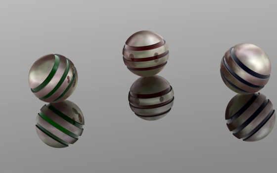 металлик, spheres, desktop,