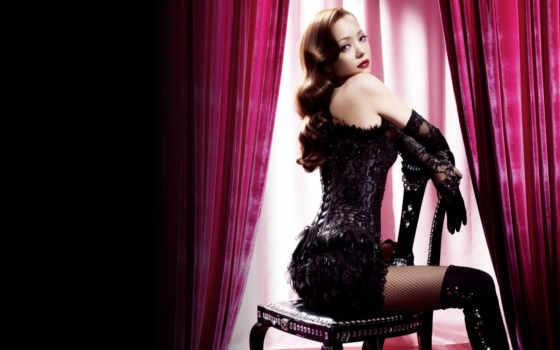 женщина, роковая, девушка, кресло, she, которая, corset, вас, всегда, смотреть, шторы,