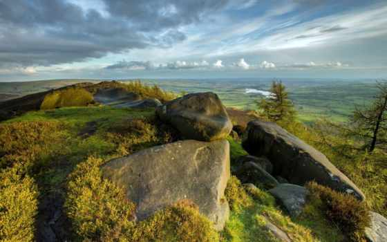 paisagem, parede, montanha, papel, montanhas, pedras, vale, cu, paisagens, baixar,